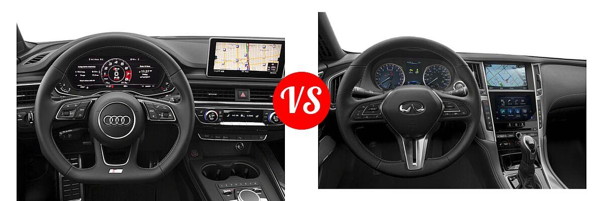 2018 Audi S5 Coupe Premium Plus / Prestige vs. 2019 Infiniti Q60 Red Sport 400 Coupe RED SPORT 400 - Dashboard Comparison