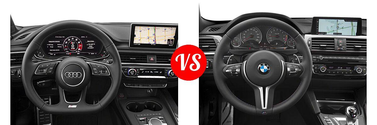 2018 Audi S5 Coupe Premium Plus / Prestige vs. 2018 BMW M4 Coupe Coupe - Dashboard Comparison