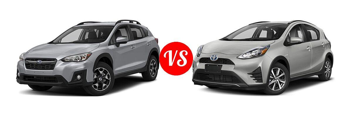2018 Subaru Crosstrek vs  2018 Toyota Prius c   Vehie com