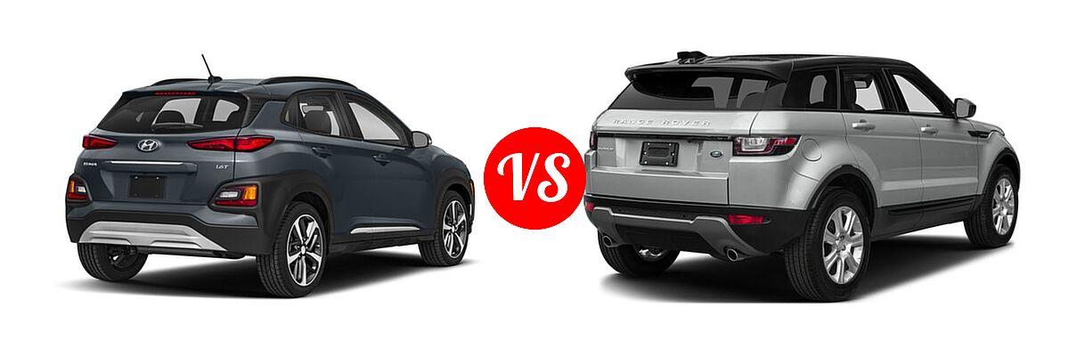 2018 Hyundai Kona Suv Limited Se Sel Ultimate Vs 2017 Land Rover