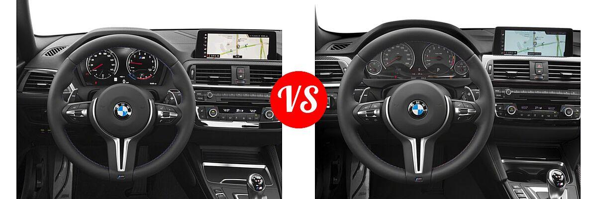 2018 BMW M2 Coupe Coupe vs. 2018 BMW M4 Coupe Coupe - Dashboard Comparison