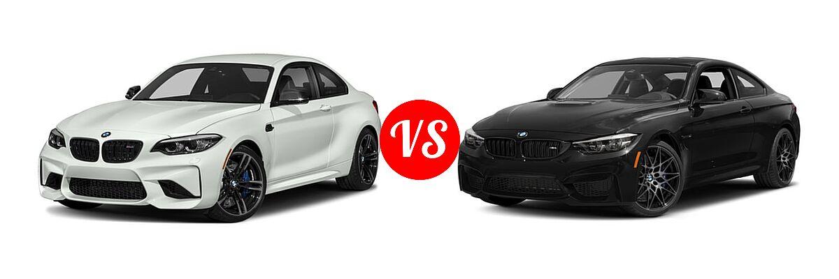 2018 BMW M2 Coupe Coupe vs. 2018 BMW M4 Coupe Coupe - Front Left Comparison