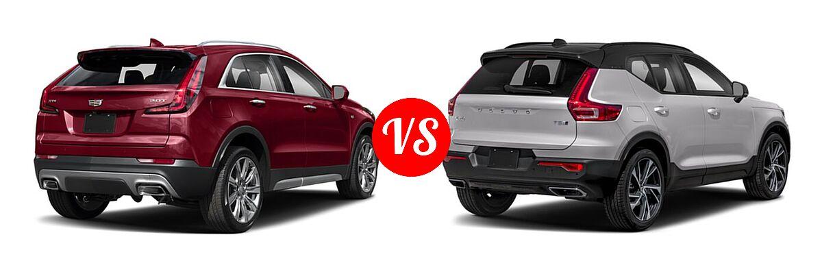2019 Cadillac XT4 SUV AWD Luxury / AWD Premium Luxury / AWD Sport / FWD Luxury / FWD Premium Luxury / FWD Sport vs. 2019 Volvo XC40 SUV R-Design - Rear Right Comparison