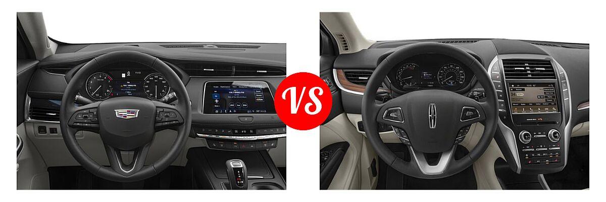 2019 Cadillac XT4 SUV AWD Luxury / AWD Premium Luxury / AWD Sport / FWD Luxury / FWD Premium Luxury / FWD Sport vs. 2019 Lincoln MKC SUV Black Label / FWD / Reserve / Select / Standard - Dashboard Comparison
