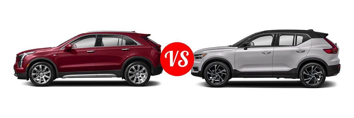2019 Cadillac XT4 SUV AWD Luxury / AWD Premium Luxury / AWD Sport / FWD Luxury / FWD Premium Luxury / FWD Sport vs. 2019 Volvo XC40 SUV R-Design - Side Comparison