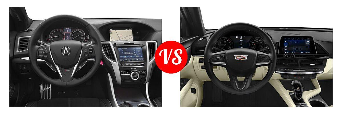 2019 Acura TLX Sedan w/A-SPEC Pkg vs. 2021 Cadillac CT4 Sedan Luxury / Premium Luxury / Sport / V-Series - Dashboard Comparison