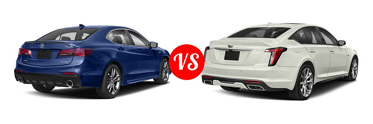2019 Acura TLX Sedan w/A-SPEC Pkg vs. 2020 Cadillac CT5 Sedan Luxury / Premium Luxury / Sport - Rear Right Comparison