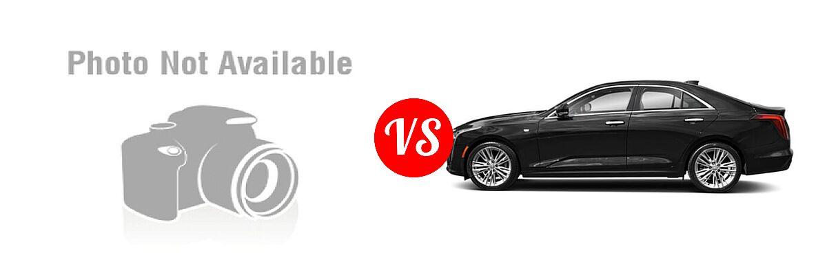 2019 Acura TLX Sedan w/A-SPEC Pkg Red Leather vs. 2021 Cadillac CT4 Sedan Premium Luxury - Side Comparison