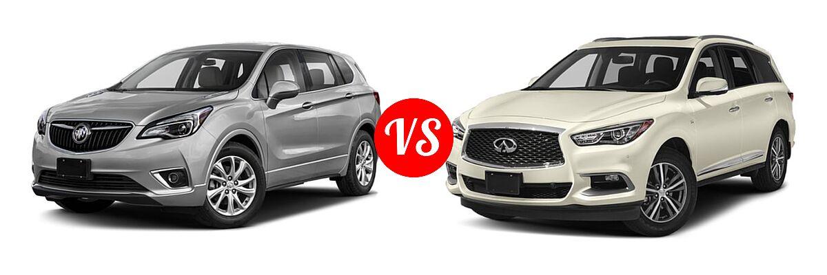 2019 Buick Envision SUV Essence / FWD 4dr / Preferred / Premium / Premium II vs. 2019 Infiniti QX60 SUV LUXE / PURE - Front Left Comparison