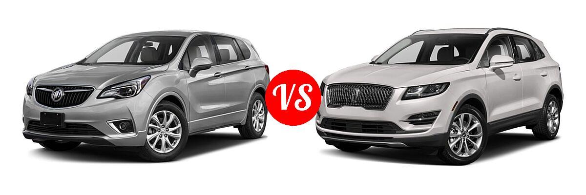 2019 Buick Envision SUV Essence / FWD 4dr / Preferred / Premium / Premium II vs. 2019 Lincoln MKC SUV Black Label / FWD / Reserve / Select / Standard - Front Left Comparison