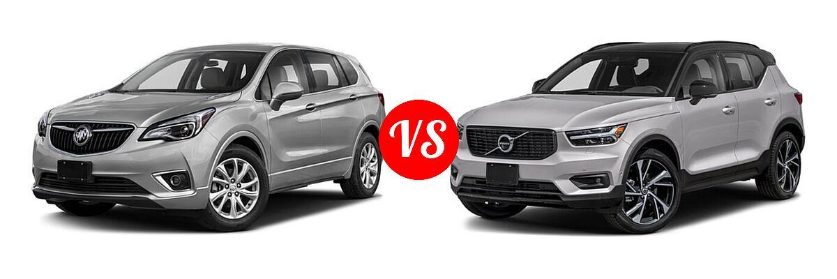 2019 Buick Envision SUV Essence / FWD 4dr / Preferred / Premium / Premium II vs. 2019 Volvo XC40 SUV R-Design - Front Left Comparison