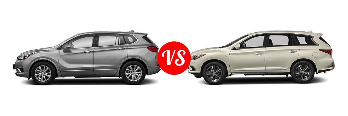 2019 Buick Envision SUV Essence / FWD 4dr / Preferred / Premium / Premium II vs. 2019 Infiniti QX60 SUV LUXE / PURE - Side Comparison