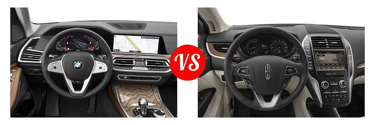 2019 BMW X7 SUV xDrive40i / xDrive50i vs. 2019 Lincoln MKC SUV Black Label / FWD / Reserve / Select / Standard - Dashboard Comparison