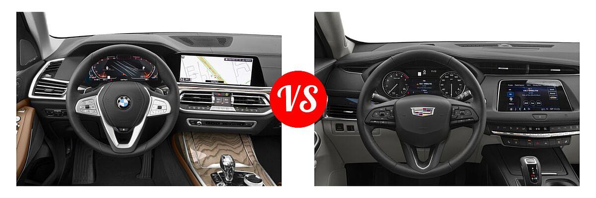 2019 BMW X7 SUV xDrive40i / xDrive50i vs. 2019 Cadillac XT4 SUV AWD Luxury / AWD Premium Luxury / AWD Sport / FWD Luxury / FWD Premium Luxury / FWD Sport - Dashboard Comparison