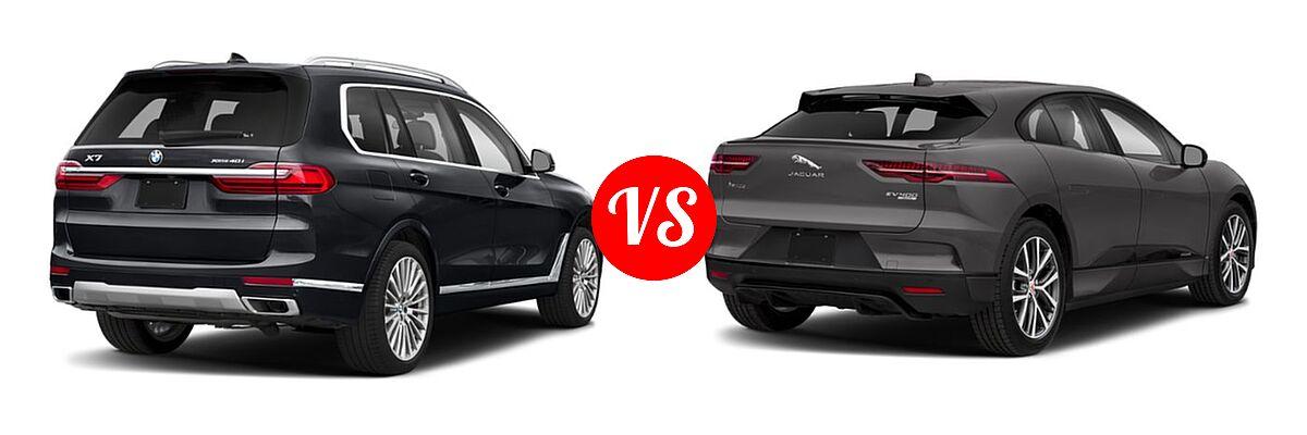2019 BMW X7 SUV xDrive40i / xDrive50i vs. 2019 Jaguar I-PACE SUV Electric First Edition / HSE / S / SE - Rear Right Comparison