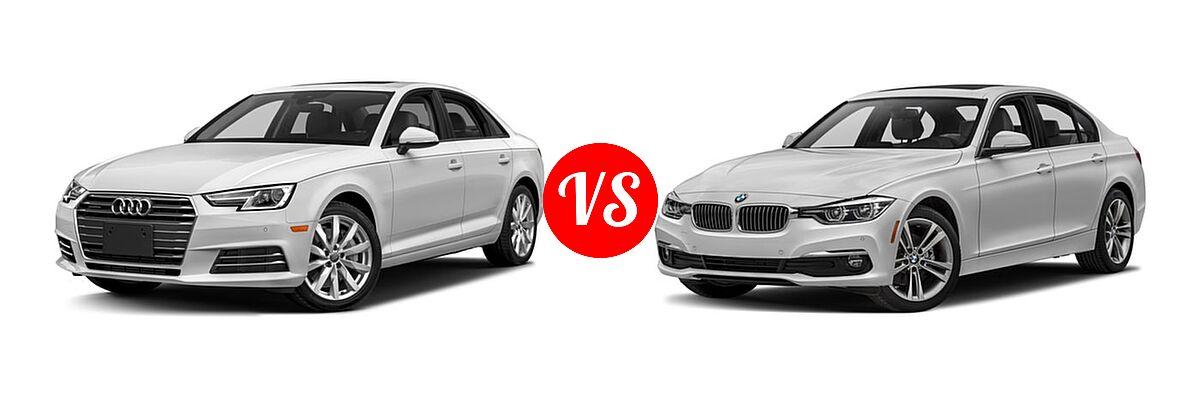 2018 Audi A4 Sedan Premium / Premium Plus / Prestige vs. 2018 BMW 3 Series Sedan Diesel 328d / 328d xDrive - Front Left Comparison
