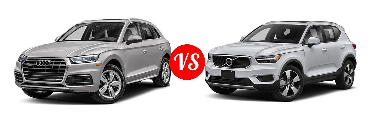 2020 Audi Q5 SUV Premium / Premium Plus / Prestige vs. 2019 Volvo XC40 SUV Momentum / R-Design - Front Left Comparison