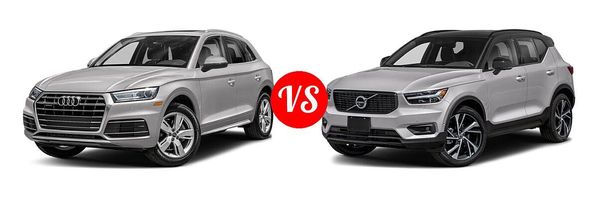 2020 Audi Q5 SUV Premium / Premium Plus / Prestige vs. 2019 Volvo XC40 SUV R-Design - Front Left Comparison