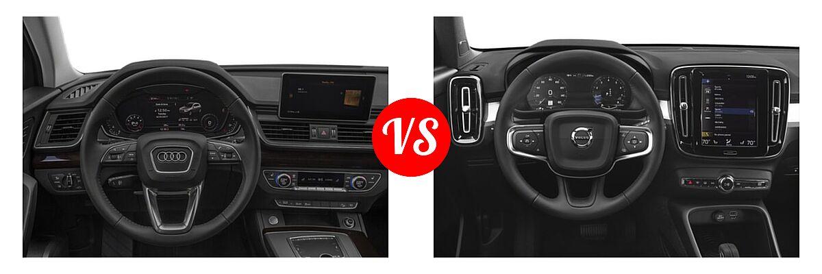 2020 Audi Q5 SUV Premium / Premium Plus / Prestige vs. 2019 Volvo XC40 SUV Momentum / R-Design - Dashboard Comparison
