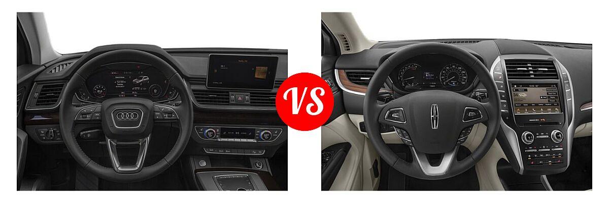 2020 Audi Q5 SUV Premium / Premium Plus / Prestige vs. 2019 Lincoln MKC SUV Black Label / FWD / Reserve / Select / Standard - Dashboard Comparison