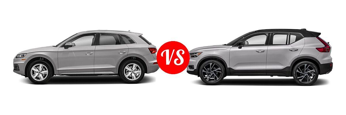 2020 Audi Q5 SUV Premium / Premium Plus / Prestige vs. 2019 Volvo XC40 SUV R-Design - Side Comparison