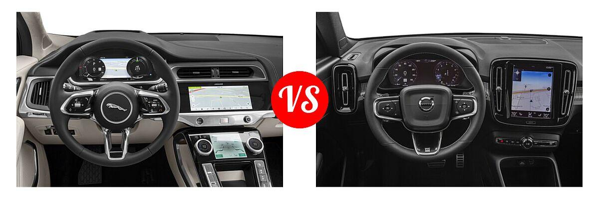 2019 Jaguar I-PACE SUV Electric First Edition / HSE / S / SE vs. 2019 Volvo XC40 SUV R-Design - Dashboard Comparison