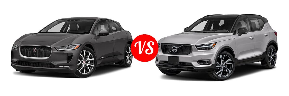 2019 Jaguar I-PACE SUV Electric First Edition / HSE / S / SE vs. 2019 Volvo XC40 SUV R-Design - Front Left Comparison