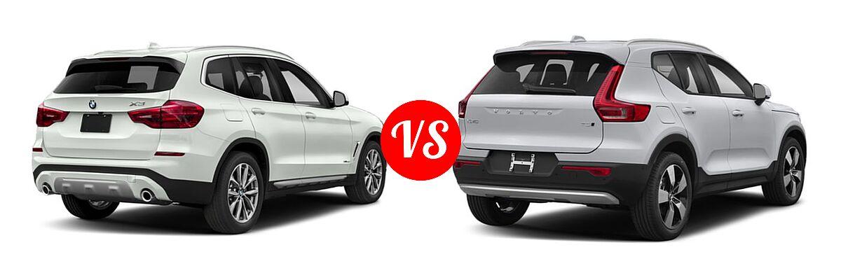2019 BMW X3 SUV sDrive30i / xDrive30i vs. 2019 Volvo XC40 SUV Momentum / R-Design - Rear Right Comparison