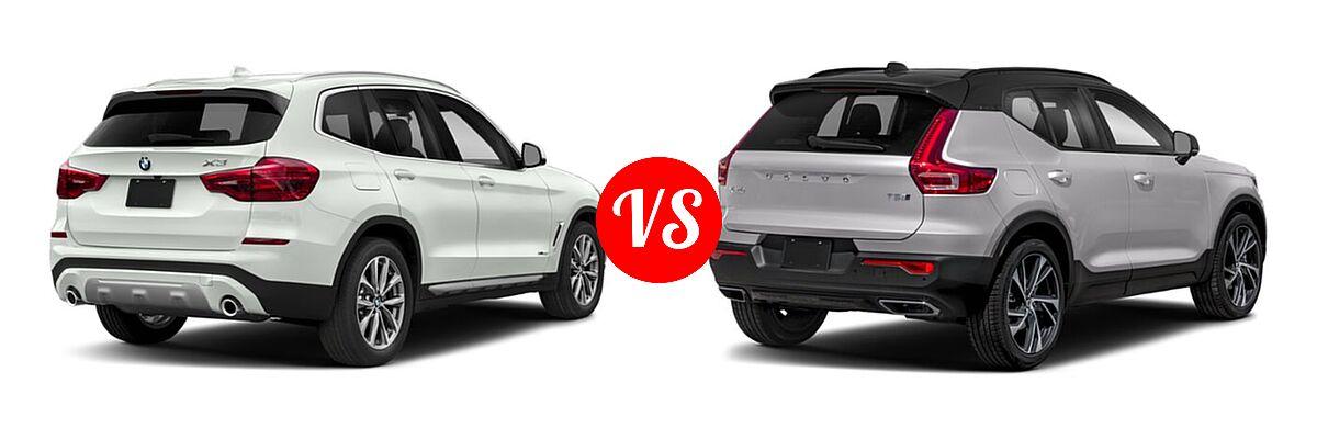 2019 BMW X3 SUV sDrive30i / xDrive30i vs. 2019 Volvo XC40 SUV R-Design - Rear Right Comparison