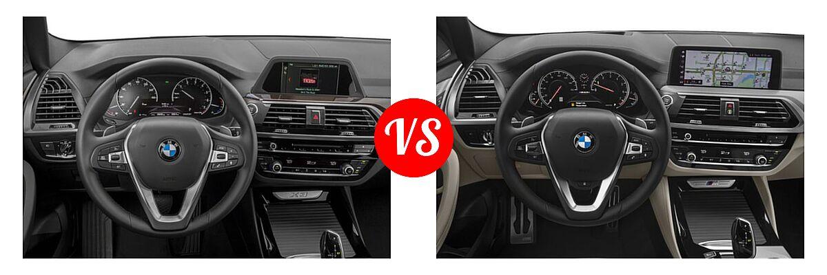 2019 BMW X3 SUV sDrive30i / xDrive30i vs. 2019 BMW X4 M40i SUV M40i - Dashboard Comparison