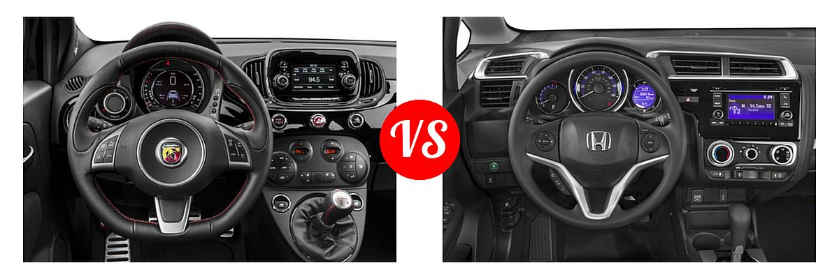 2019 FIAT 500 Hatchback Abarth vs. 2019 Honda Fit Hatchback LX - Dashboard Comparison