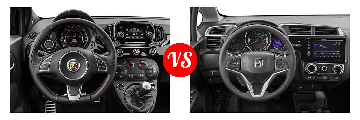 2019 FIAT 500 Hatchback Abarth vs. 2019 Honda Fit Hatchback Sport - Dashboard Comparison