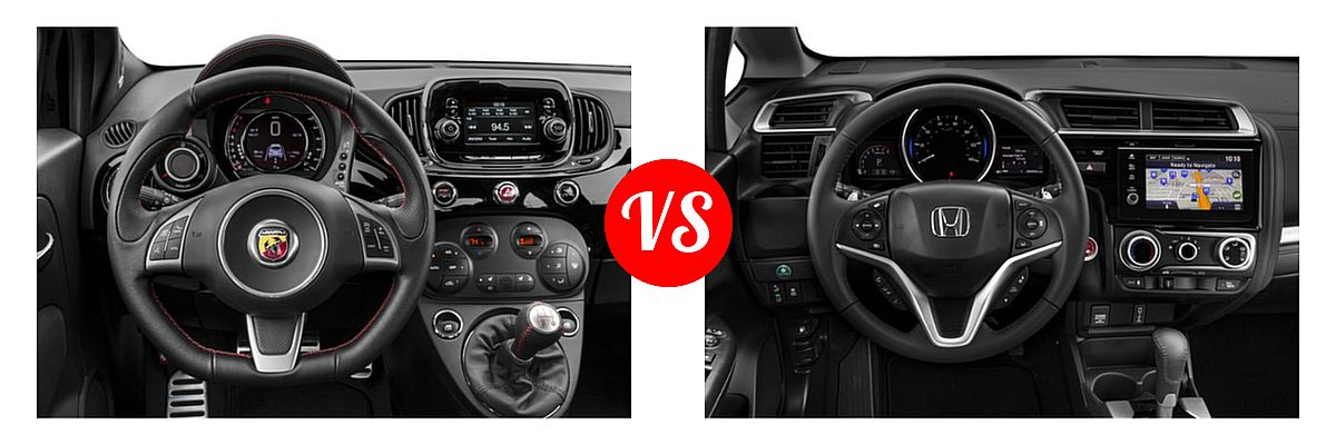 2019 FIAT 500 Hatchback Abarth vs. 2019 Honda Fit Hatchback EX-L - Dashboard Comparison
