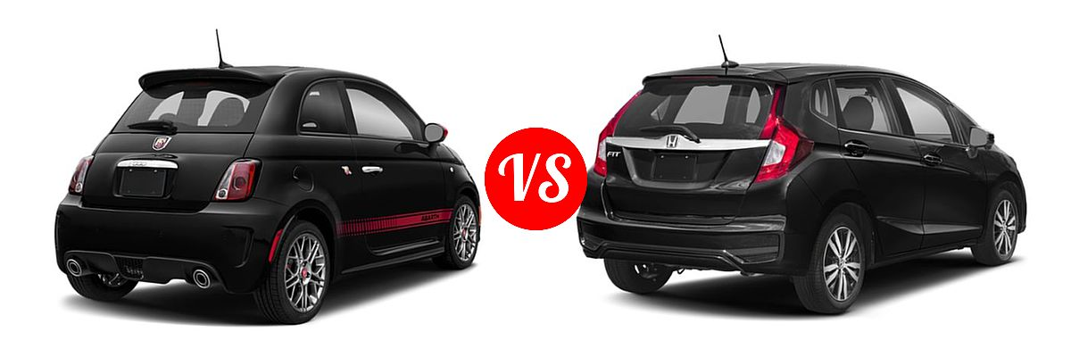 2019 FIAT 500 Hatchback Abarth vs. 2019 Honda Fit Hatchback EX - Rear Right Comparison