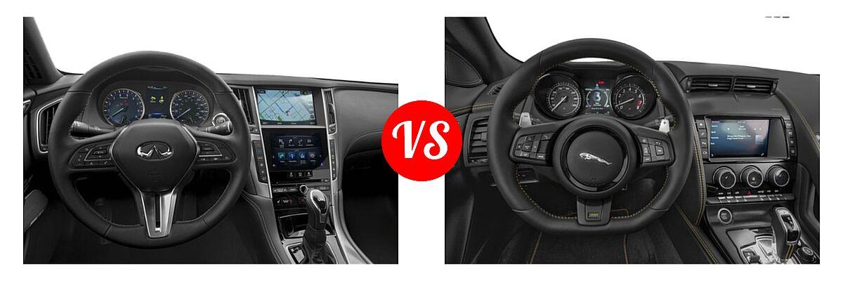 2019 Infiniti Q60 Red Sport 400 Coupe RED SPORT 400 vs. 2018 Jaguar F-TYPE Coupe 400 Sport - Dashboard Comparison