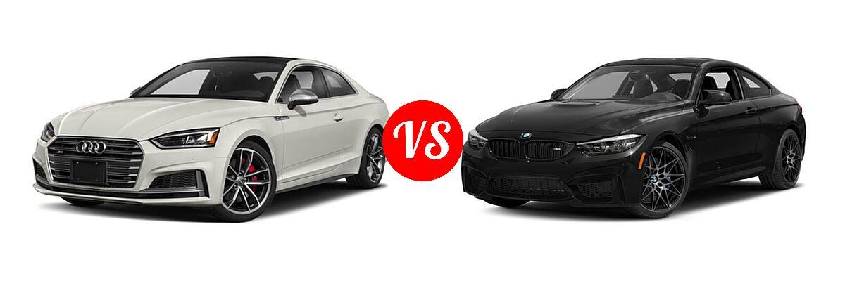 2018 Audi S5 Coupe Premium Plus / Prestige vs. 2018 BMW M4 Coupe Coupe - Front Left Comparison