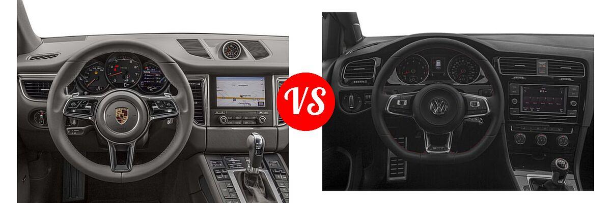 2017 Porsche Macan SUV AWD vs. 2018 Volkswagen Golf GTI Hatchback Autobahn / S / SE - Dashboard Comparison