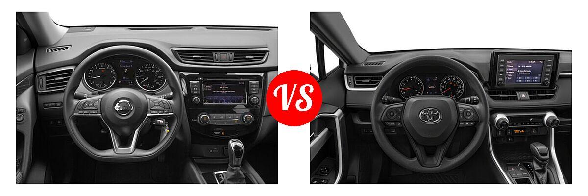 2020 Nissan Rogue SUV S / SV vs. 2020 Toyota RAV4 SUV XLE / XLE Premium - Dashboard Comparison