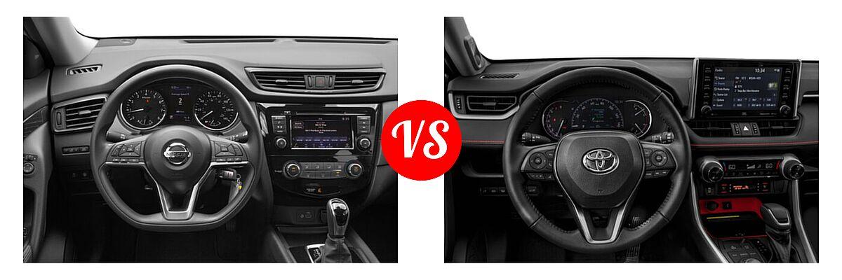2020 Nissan Rogue SUV S / SV vs. 2020 Toyota RAV4 SUV TRD Off Road - Dashboard Comparison