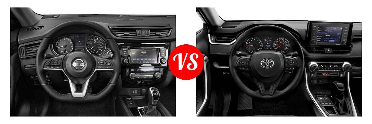 2020 Nissan Rogue SUV SL vs. 2020 Toyota RAV4 SUV LE - Dashboard Comparison