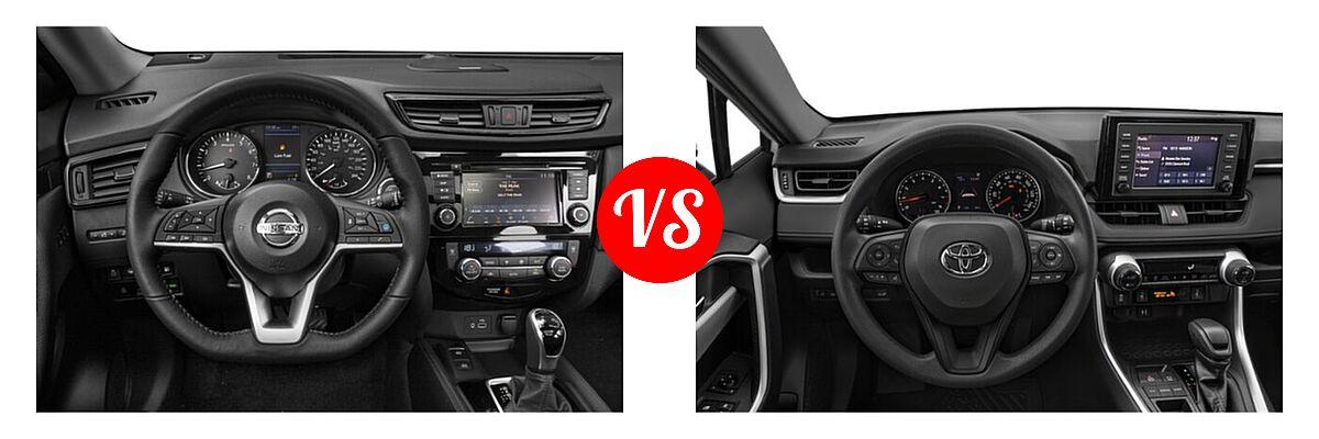 2020 Nissan Rogue SUV SL vs. 2020 Toyota RAV4 SUV XLE / XLE Premium - Dashboard Comparison