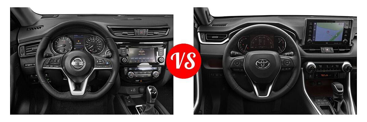 2020 Nissan Rogue SUV SL vs. 2020 Toyota RAV4 SUV Limited - Dashboard Comparison