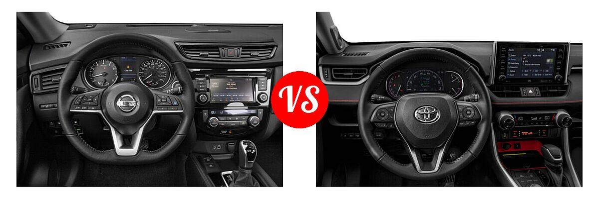 2020 Nissan Rogue SUV SL vs. 2020 Toyota RAV4 SUV TRD Off Road - Dashboard Comparison
