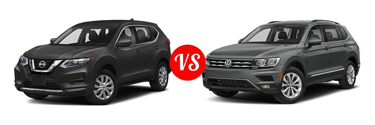 2020 Nissan Rogue SUV S / SV vs. 2020 Volkswagen Tiguan SUV SE R-Line Black / SEL Premium R-Line - Front Left Comparison