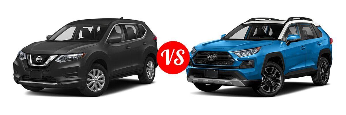2020 Nissan Rogue SUV S / SV vs. 2020 Toyota RAV4 SUV Adventure - Front Left Comparison