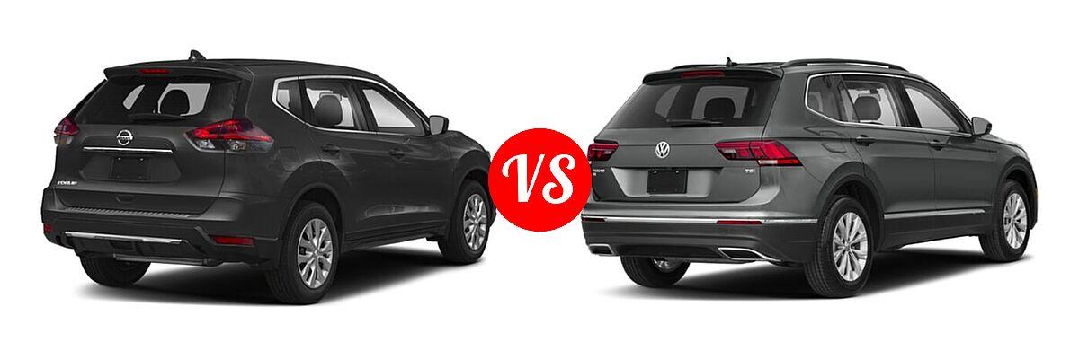 2020 Nissan Rogue SUV S / SV vs. 2020 Volkswagen Tiguan SUV S / SE / SEL - Rear Right Comparison
