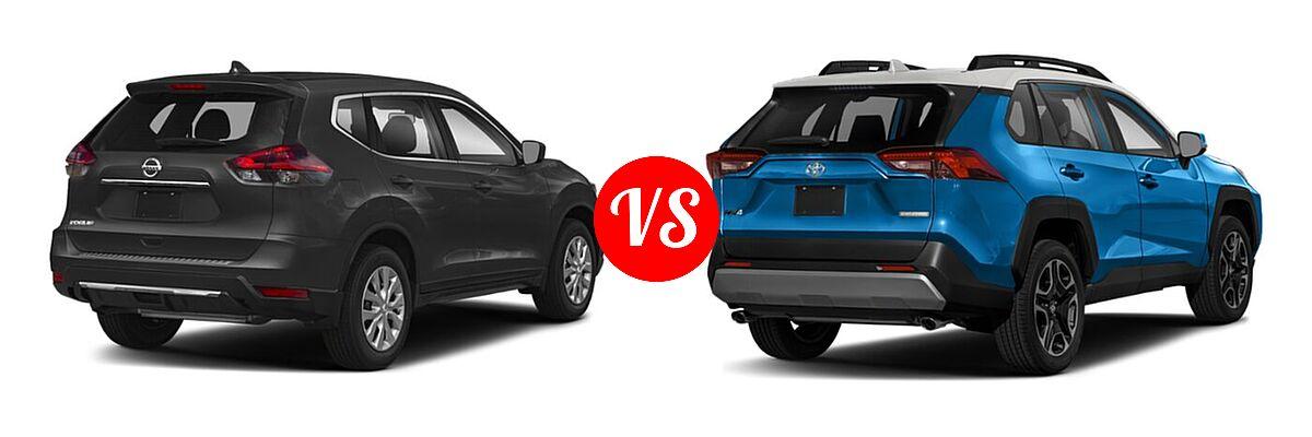 2020 Nissan Rogue SUV S / SV vs. 2020 Toyota RAV4 SUV Adventure - Rear Right Comparison