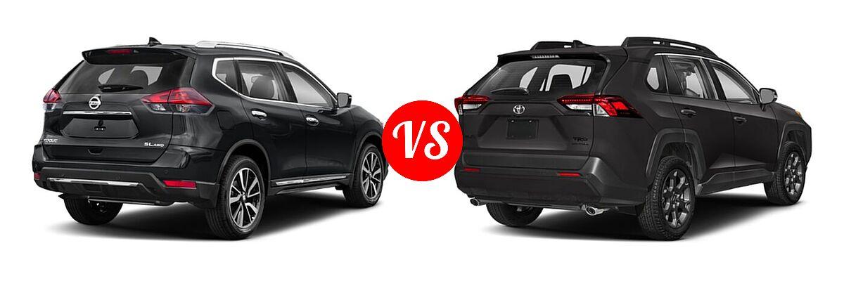 2020 Nissan Rogue SUV SL vs. 2020 Toyota RAV4 SUV TRD Off Road - Rear Right Comparison