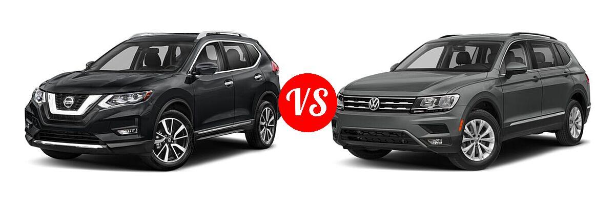 2020 Nissan Rogue SUV SL vs. 2020 Volkswagen Tiguan SUV S / SE / SEL - Front Left Comparison