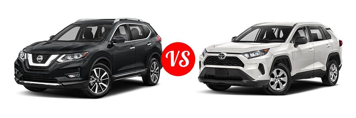 2020 Nissan Rogue SUV SL vs. 2020 Toyota RAV4 SUV LE - Front Left Comparison